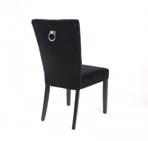 Stuhl Exklusiv, schwarz, Samt Bezug