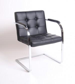 Freischwinger schwarz, Konferenzstuhl schwarz, Besucherstuhl schwarz