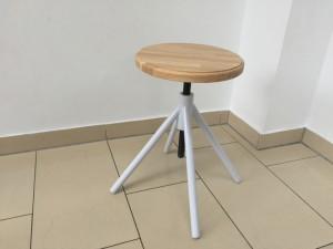 Hocker verstellbar im Industriedesign, Sitzhöhe 41-62 cm