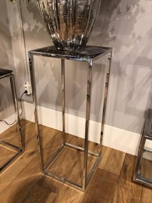 Dekosäule Stein-Metall verchromt, Säule verchromt, Maße 40x40 cm