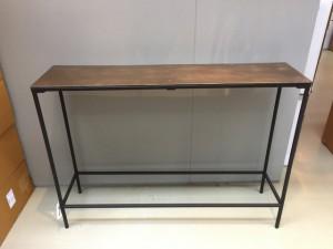 Konsole Bronze  schwarz, Wandtisch Metall schwarz, Breite 119 cm