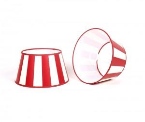 Gestreifter Lampenschirm, rot-weiß, rund Ø  20 cm