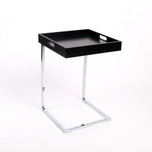 Tablett-Tisch Schwarz, Beistelltisch modern Farbe Schwarz