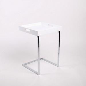 Tablett-Tisch Weiß, Beistelltisch modern