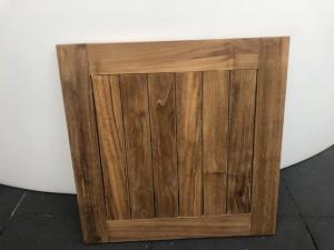 Tischplatte Teakholz, Garten-Tischplatte Teak, Tischplatte für Bistrotisch, Maße 80x80 cm