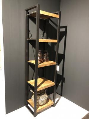 Regal Industriedesign,  Bücherregal Metall Holz, Breite 55 cm