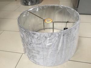 Lampenschirm rund silber, Lampenschirm samt silber, Ø 50 cm