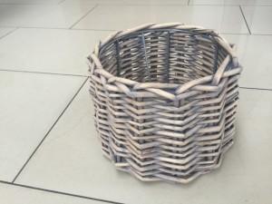 Lampenschirm Rattan für Tischleuchte, Form rund, Durchmesser 22 cm