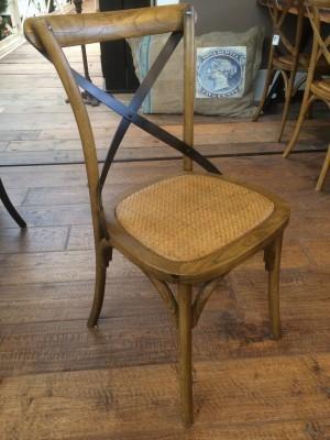 Klassischer Stuhl, Farbe Braun-Schwarz