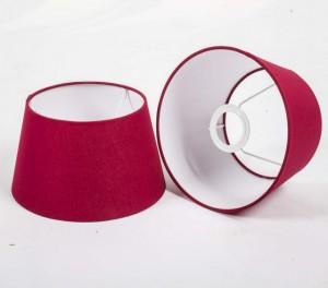 Lampenschirm rund, Farbe Rot, Ø 25 cm