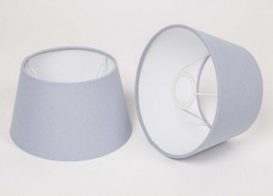 Lampenschirm für Tischleuchte, Form rund, Farbe Blau, Durchmesser 20 cm