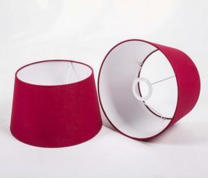 Lampenschirm rund, Farbe Rot, Ø 20 cm