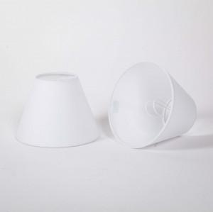 KIemmschirm weiß, Aufsteckschirm rund, Lampenschirm für Kronleuchter,  Ø 16 cm