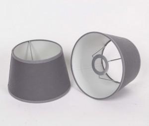 Lampenschirm für Tischleuchte, Form rund, Farbe Grau, Durchmesser 20 cm