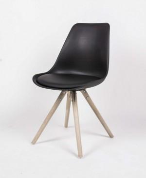 Stuhl gepolstert  Gestell aus Massivholz, Stuhl Farbe schwarz