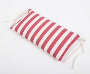 Nackenkissen rot-weiß gestreift für Liegestuhl, Nackenkissen 100 % Baumwolle