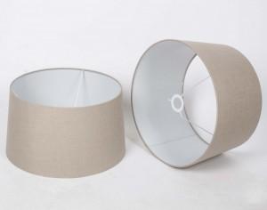 Lampenschirm für Tisch- oder Stehleuchte rund, Farbe taupe, Ø 45 cm