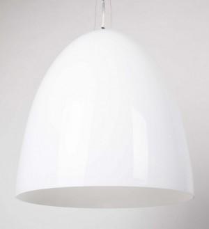 Moderne Pendelleuchte weiß aus Glas, Hängelampe Ø 34 cm