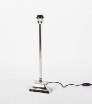 Lampenfuß silber  Tischleuchte, Höhe 54 cm, Fußform rechteckig