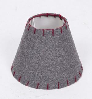 Lampenschirm grau rund für eine Tischlampe,  Ø 20 cm