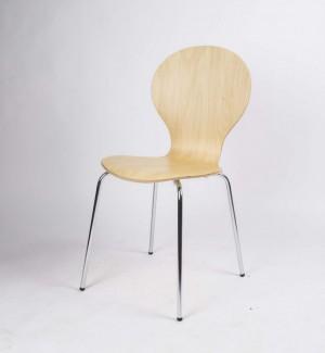 Stuhl aus Schichtholz, Stapelstuhl, Farbe Ahorn