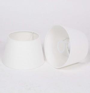 Lampenschirm weiß rund für Tischleuchte, Durchmesser 20 cm
