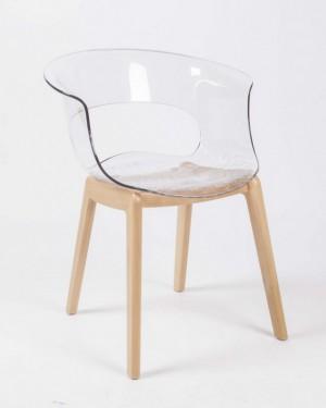 Design Stuhl transparent, Stuhl mit Armlehne