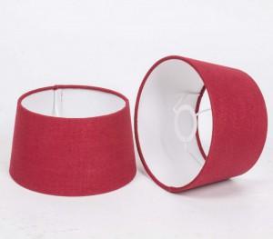 Lampenschirm rot rund für Tischleuchte, Durchmesser 20 cm