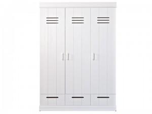 Kleiderschrank weiß, Schrank weiß, Breite 140 cm