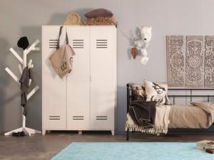 Kleiderschrank Weiß, Schrank, Breite 123 cm