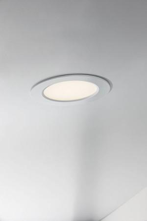 LED Moderne Deckenleuchte, Outdoorleuchte, Farbe weiß, dimmbar, Ø 14,5 cm