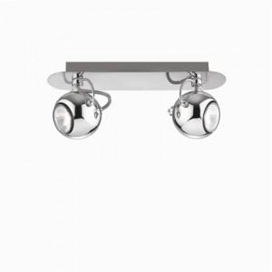 Wand- / Deckenleuchte Metall chrom einstellbar