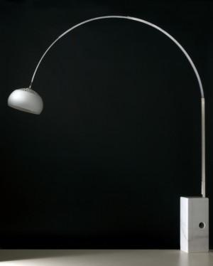 Stehleuchte mit einem Steinfuß mit Metall Lampenschirm, Ø 35 cm, Stehlampe, Höhe 190-225 cm