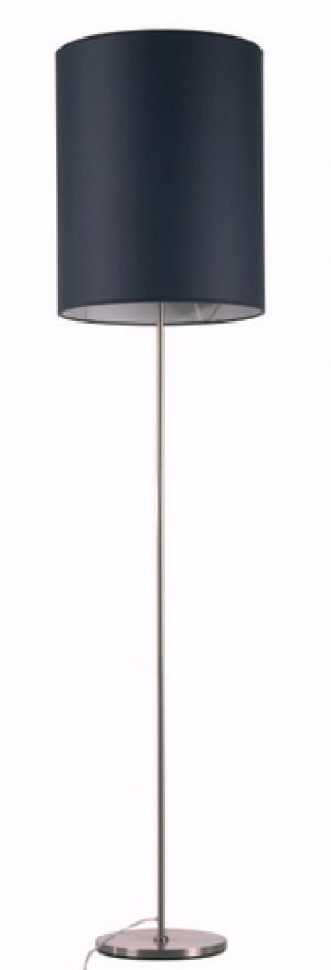 Stehlampe mit einem grauen zylinderförmigen Lampenschirm, 40 cm Durchmesser, Höhe 50 cm