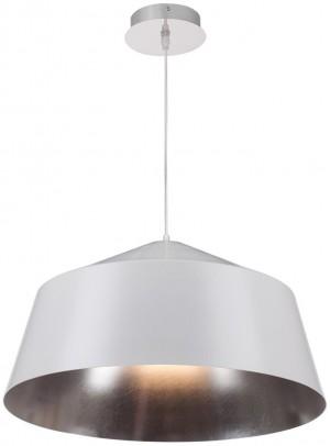 Hängelampe Metall weiß-silber, Pendelleuchte weiß-silber, Durchmesser 56 cm
