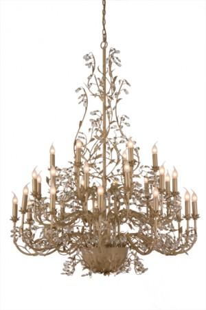 Kronleuchter 30 flammig, Farbe beige-gold Durchmesser 120 cm