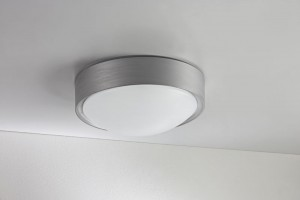 LED Moderne Deckenleuchte, Wandleuchte, Farbe aluminium, Ø 25,3 cm