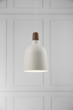 Moderne Pendelleuchte, Hängeleuchte, Farbe weiß, braun, Ø 20 cm