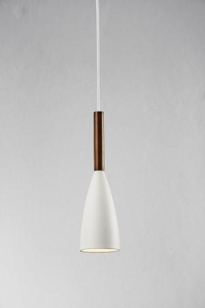 Moderne Pendelleuchte, Hängeleuchte, Farbe weiß, braun,  Ø 10 cm