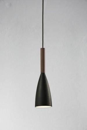 Moderne Pendelleuchte, Hängeleuchte, Farbe schwarz, braun,  Ø 10 cm