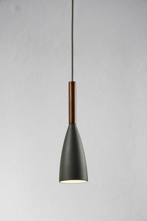 Moderne Pendelleuchte, Hängeleuchte, Farbe grau, braun,  Ø 10 cm