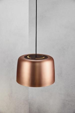 Moderne Pendelleuchte, Hängeleuchte, Farbe bronze, Ø 31 cm