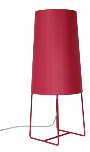 Design-Tischleuchte rot, moderne Tischlampe in neun  verschiedenen Farben