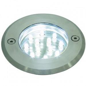 Einbauleuchte rostfreier Edelstahl Glas PVC LED modern