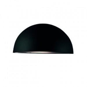 Wandleuchte Metall schwarz PVC Outdoor aus schlagfestem Material
