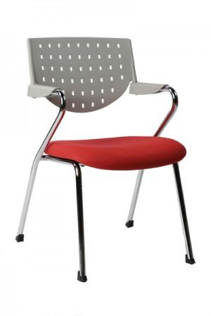 Design Bürostuhl in grau/rot modern