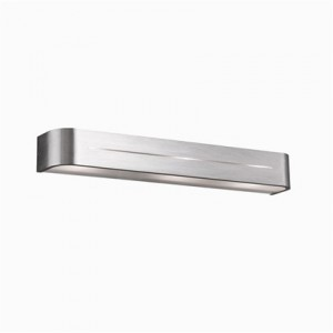 Wandleuchte Metall aluminium Glas transparent