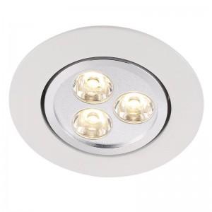 LED Moderne Deckeneinbauleuchte, Farbe weiß, Ø 8,5 cm