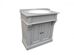 Waschtisch grau Landhaus, Badmöbel grau im Landhausstil