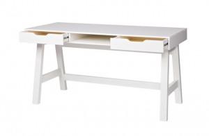 Tisch weiß Holz, Schreibtisch weiß, Schreibtisch Massivholz weiß